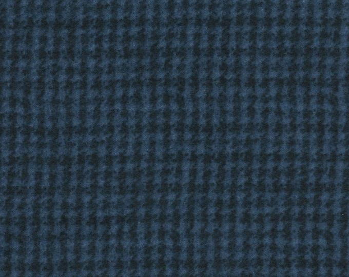 Maywood WOOLIES Navy Dark Blue Houndstooth 18503-N Flannel Fabric BTY PRECUT