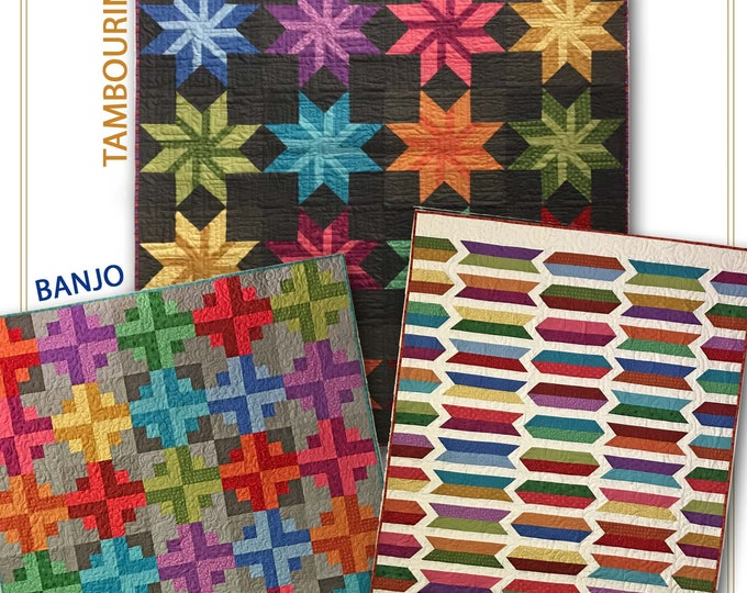 Strip it three ways Series 4 Nancy Rink Jelly Roll Friendly 3 patterns in one Quilt Pattern