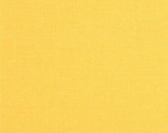Robert Kaufman Kona Cotton Solids LEMON Yellow Gold Fabric BTY