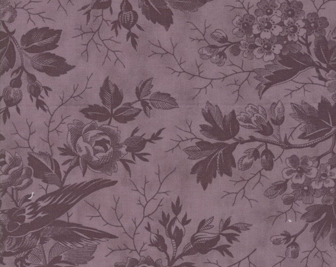Moda 3 Sisters Quill Tonal Violet Purple Floral Branch Fabric 44151-27 BTY