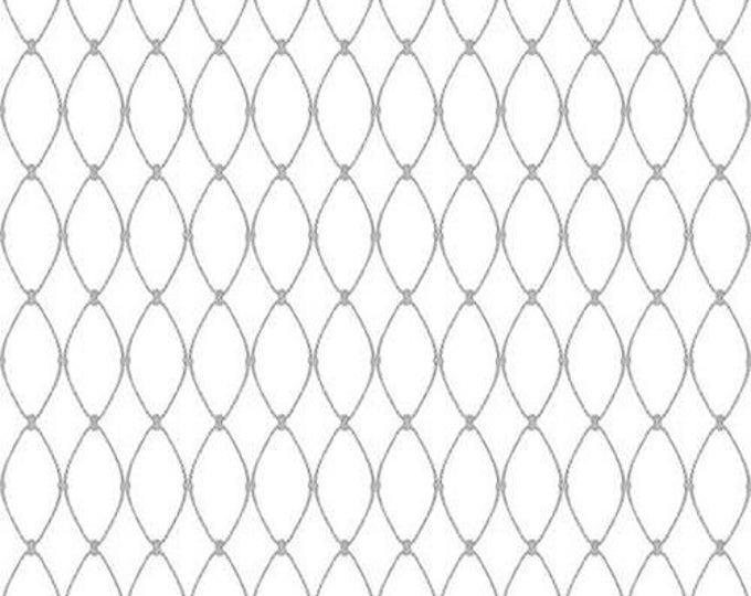Henry Glass Calming Tide Fishing Net 1776-19 White quilting Fabric Cotton BTY