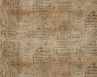 Tim Holtz - Dapper - Script Cursive Writing Fabric PWTH059 BTY