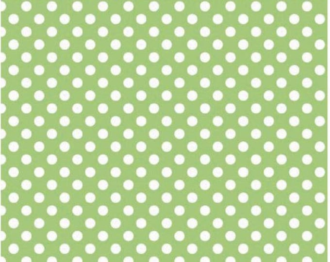 Riley Blake Designs Small Dots Green C670 Cotton Fabric BTY