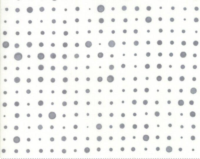 Moda Zen Chic Modern Background Basics More Paper 1673-13 Dottie Dot Grey White Fabric BTY