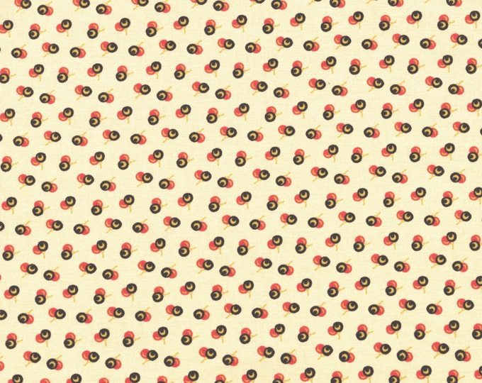 RJR Chocolate & Bubble Gum Cream Pink Brown Cherries Civil War Fabric 2723-002 BTY