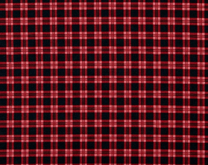 Patrick Lose fabrics red Plaid 0618 Fabric BTY