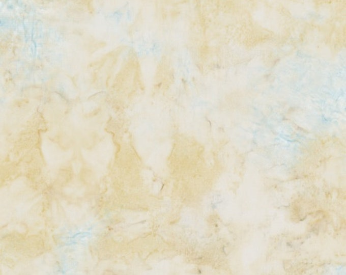 Hoffman 1384 Smoothies Mottles Batik Fabric 1384-33 Cream Light Blue Yellow BTY