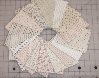 16 Civil War Shirtings Cream Lights Moda Windham Reproduction Quilt Fabric Fat Quarter Bundle