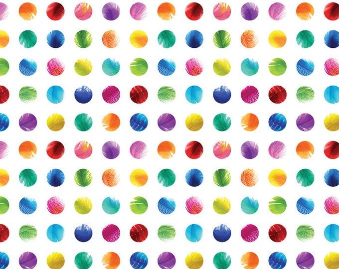 Moda Gradients Basics Rainbow Multi Color Circle Dot Fabric BTY 33368-11D