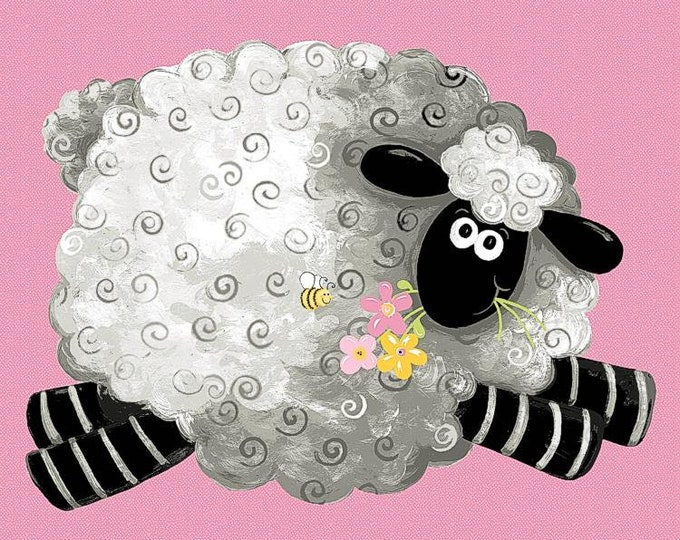 """Susybee Lal the Lamb Play Mat Panel, F8274 36"""" X 42"""""""