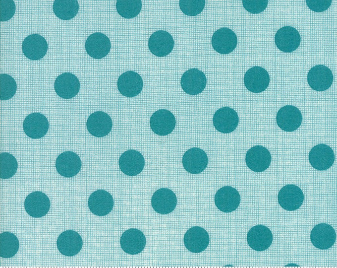 Jen Kingwell Circulus Tiny Plaid Polka Dot Stone Grey Fabric 18131-16 BTY