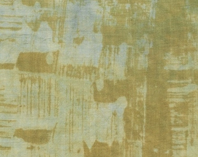 NEW Marcia Derse Studio Alphabet Tracks Gray Grey Blye Olive Green Brushstroke Modern OOP Fabric 41791-8 BTHY
