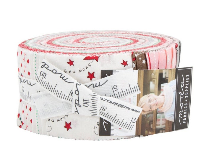 Moda Merry Merry Snow Bunny Hill  Jelly Roll 2.5 Fabric Strips 2940JR  By Moda Fabric