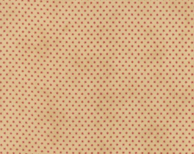 Moda Jan Patek Fern Hill Tan Beige with Red Stars Civil War Fabric 2184-11 BTY