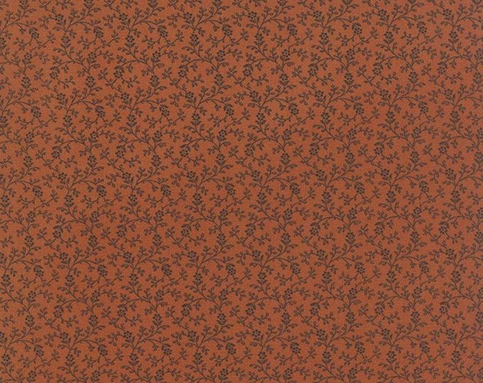 Moda Miniature Primitive Gatherings Rust Pumpkin Orange Civil War Fabric BTY 1150-18