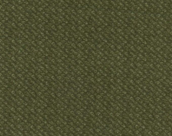 Maywood Woolies Green Olive Sage Poodle Bulce Tweed FLANNEL Fabric 18505-G BTY
