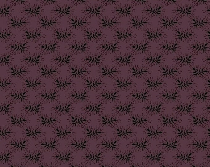 Marcus Cozies Sarah J Cream Deep Purple Floral Cozy Flannel Fabric 2118-0235 BTY