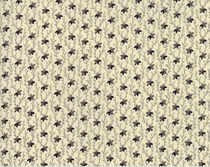 Moda Evelyns Homestead by Betsy Chutchian Cream Black Civil War Fabric 31561-12 BTY