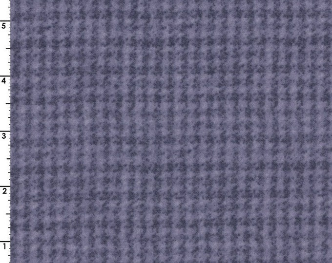 Maywood WOOLIES Violet Houndstooth MASF-18503-V Flannel Fabric BTHY
