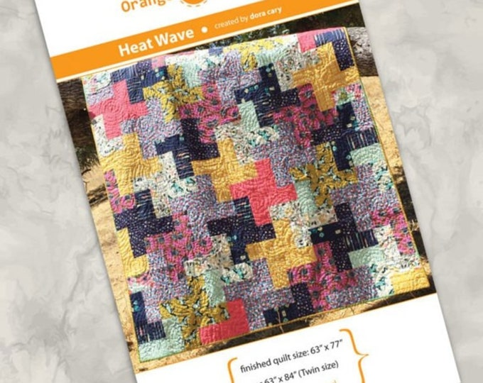 Orange dot Quilts Heat Wave by Dora Cary Pattern
