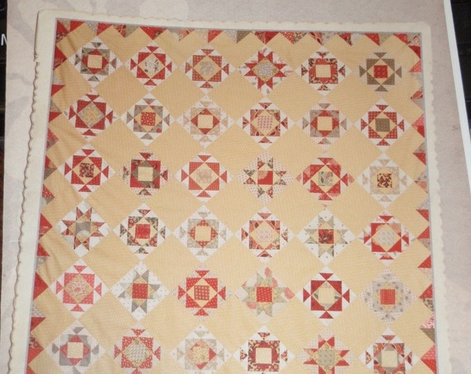 Miss Rosie's Marguerite Fat Quarter or 1/8 Friendly Quilt Pattern