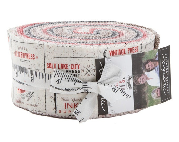 Moda The Print Shop Jelly Roll  by Sweet water for Moda Precuts Moda Fabrics 5740JR   2.5 Fabric Strips
