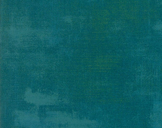 Moda Grunge Basics SAXONY Blue Teal Green Mottled Background Fabric 30150-343 BTY