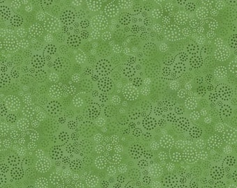 Wilmington Prints Essentials Green Swirl Dot Fabric 4817-735 BTY