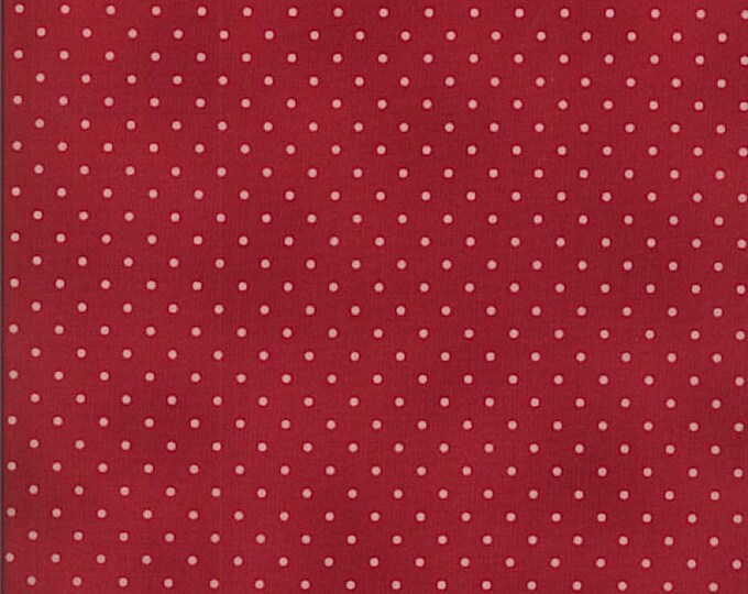 Robyn Pandolph Home Essential Polka Dots Red with Pink 0016-043 Fabric BTY