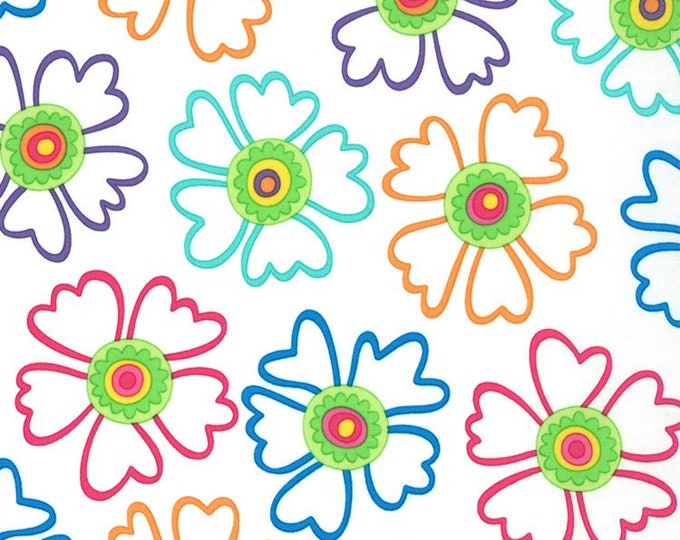 Moda Fabric Ticklish Me And My Sisters Designs  Cotton Colorful Floral Print 25191-18  BTY