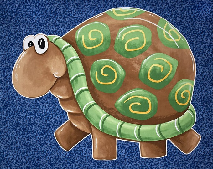Susybee Paul & Sheldon Turtle Playmat  Panel - 36x44 Panel