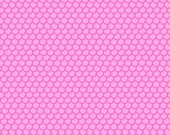 Blend Go Fish Maude Ashbury Mermaid Tail Pink Fish Scale Fabric BTY