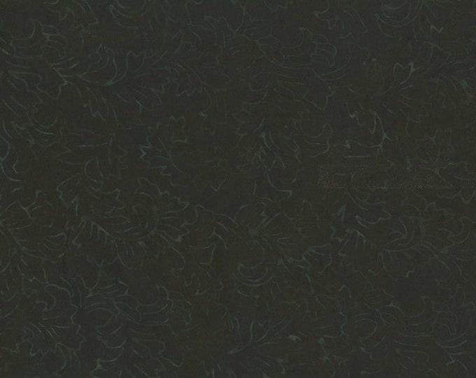 RJR Malam Jinny Beyer Batik Dark Black Floral Leaf Fabric 2142-007 BTHY
