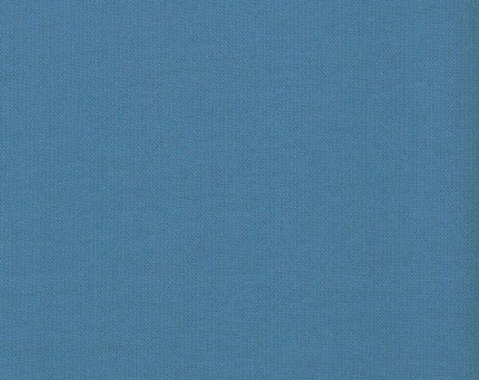 Robert Kaufman Kona Cotton Solid  DELFT 1101 Meduim Blue Fabric BTY