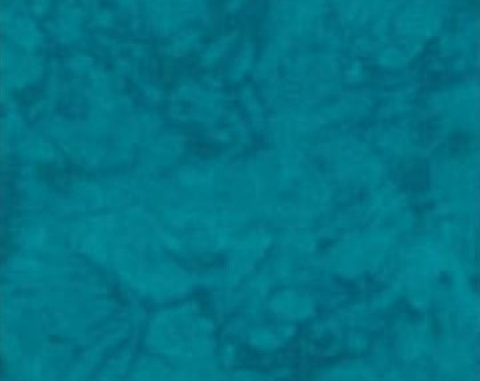 RJR Handspray Mottled Cerulean Blue Teal Turquoise Tonal Fabric 4758-065 BTY