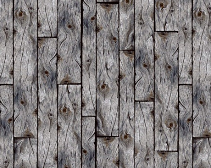 Quilting Treasures Loyal Loveable Labs - Wood Planks - Gray 1649-27288-K Fabric BTY