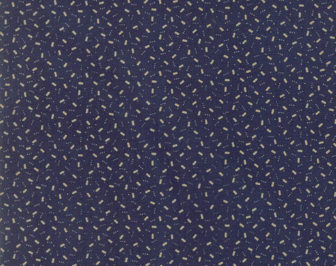 Moda Liberty Gatherings Blue with Cream Tan Off White Square Dot Confetti Fabric 1203-15 BTY