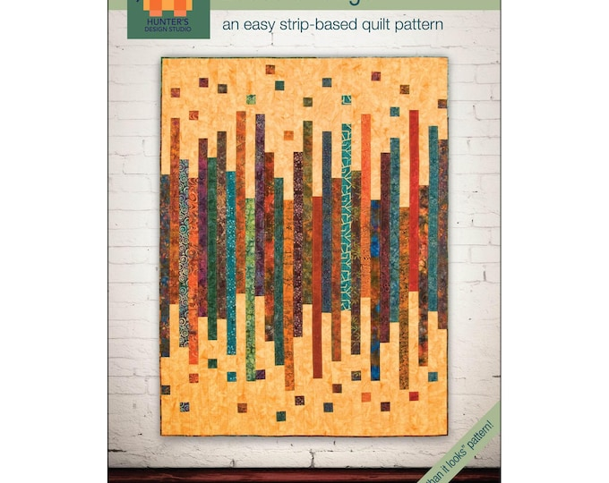 Loose Change Hunter's Design Studio Jelly Roll Friendly Quilt Modern Pattern