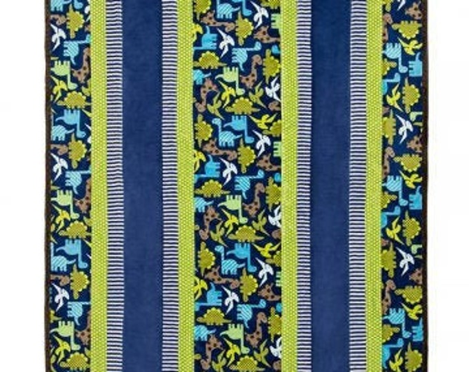 "Dino-mite Fabulous 5 Cuddle Kit from Shannon Fabrics 38.5"" x 58"""