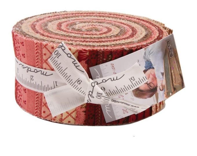 Moda Harriets Handwork Betsy Chutchian Civil War Cream Red Brown Jelly Roll 2.5 Fabric Strips