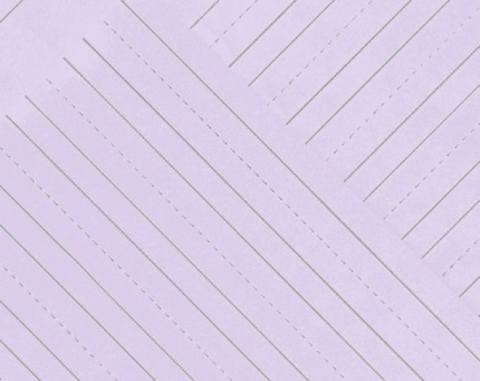 Windham Heather Givans Jot Thistle Purple Penmanship Lined Notebook Paper Gray 50457-8 Fabric BTY
