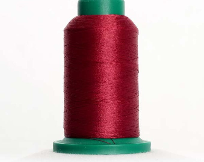 ISACORD Polyester Embroidery Thread Color 2222 Burgundy 1000m