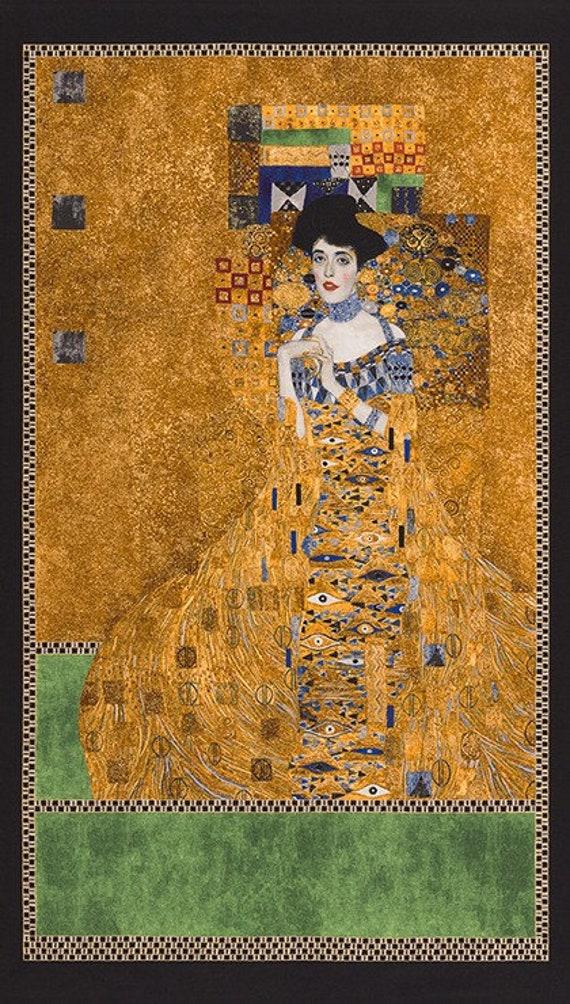 Gustav Klimt Geo Tan gold metallic SRKM 17181 13 for Robert Kaufman 0,5m
