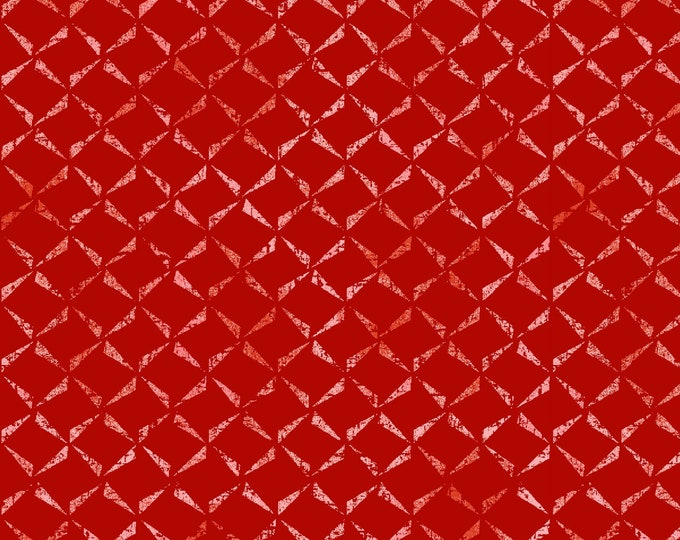 Maywood MAS9657-R Prose  Delicate Crosshatch Red Fabric 100% COTTON BTY