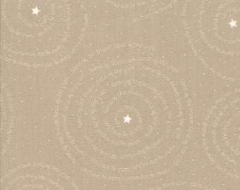 Moda Sweetwater FREEDOM Brave Kraft Tan Beige White Patriotic American Word Fabric 5642-25 BTY