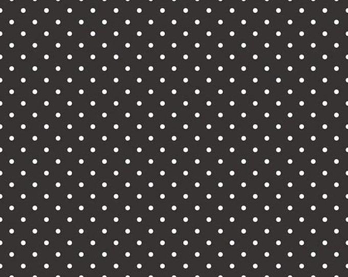 Riley Blake Designs Small Dots Black C670 Cotton Fabric BTY