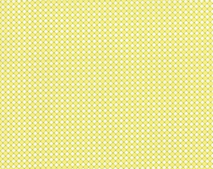 Moda Fabric Pedal Pushers, Diamond Check in Sun Light Yellow & Green  by Lauren and Jessi Jung Cotton 25088- 13  BTY
