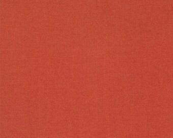 Moda Minick and Simpson Bar Harbor Red Orange Brick Solid Fabric 14660-13 BTY