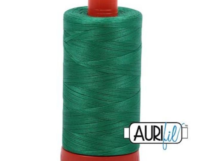 AURIFIL MAKO 50 Wt 1300m 1422y Color 2865 Emerald Quilt Cotton Quilting Thread