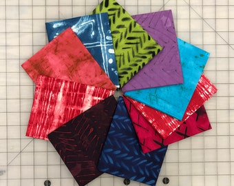 10 Marcia Derse Windham Treausre Hunt Red Purple Blue Green Quilt Fabric Fat Quarter Bundle